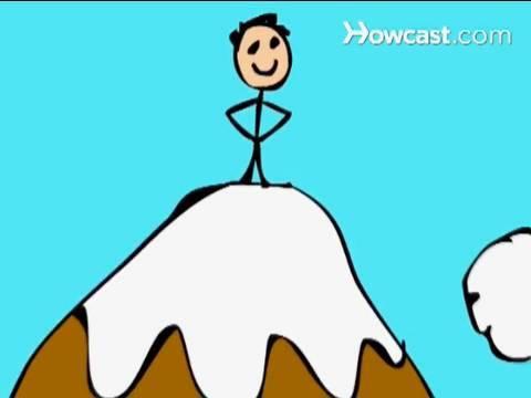 Climbing Mount Everest Clipart.