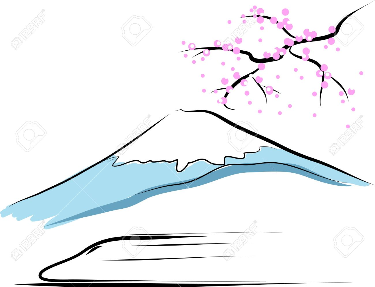 Mount Fuji Royalty Free Cliparts, Vectors, And Stock Illustration.