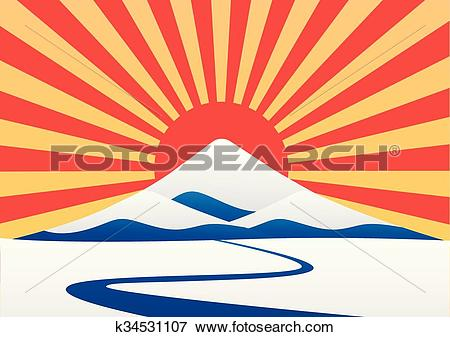 Mt fuji Clipart EPS Images. 87 mt fuji clip art vector.