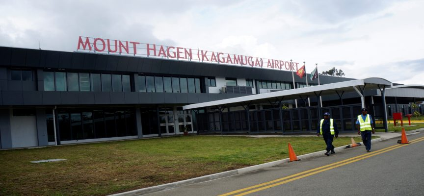 Mount Hagen international airport opens.