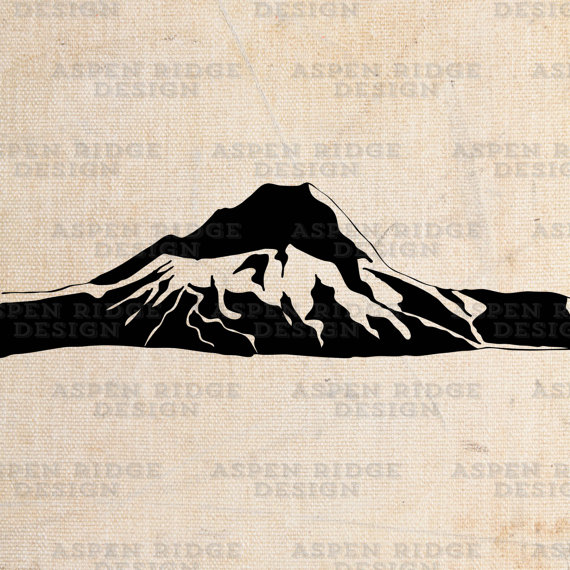Mt Hood Graphic Clip Art Wilderness Vector.