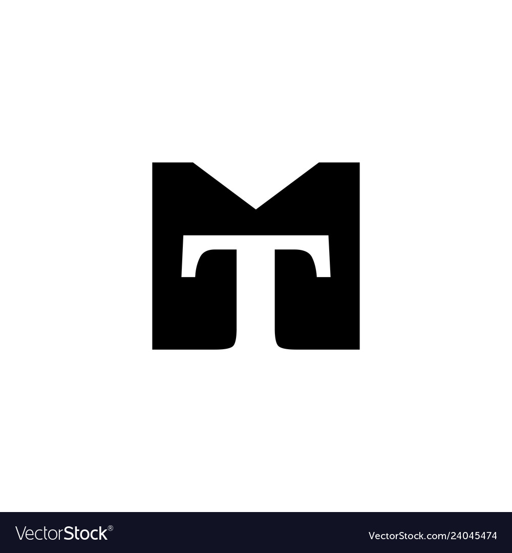 Tm mt logo initial monogram icon.