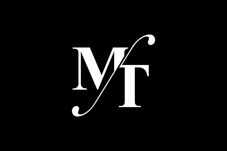 MT Monogram Logo design By Vectorseller.