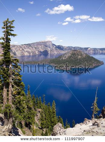 Mt Mazama Wizard Island Crater Lake Oregon United States, North.