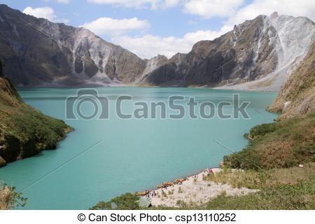 Stock Images of Mt. Pinatubo Lake.