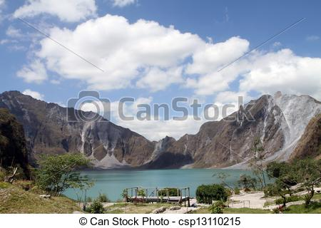 Stock Photography of Mount Pinatubo Crater.