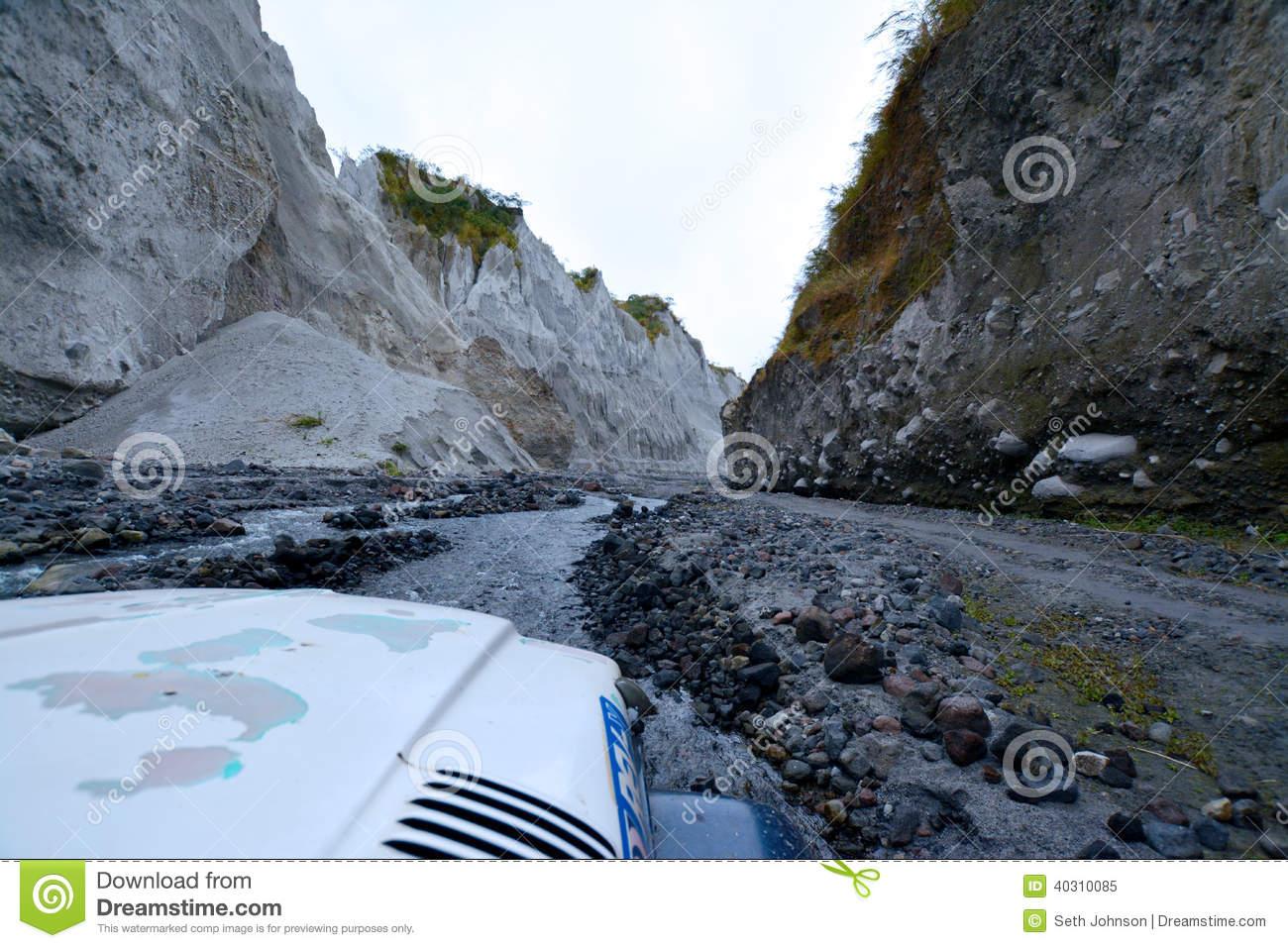 Pinatubo Trek Stock Photo.