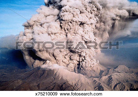 Stock Photograph of Eruption of Mt. Pinatubo x75210009.