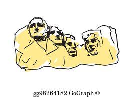 Mount Rushmore Clip Art.