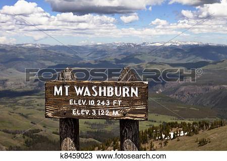 Stock Photo of Mt. Washburn, Yellowstone Park k8459023.