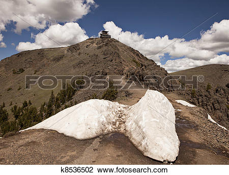 Stock Photo of Mt. Washburn Lookout Tower k8536502.