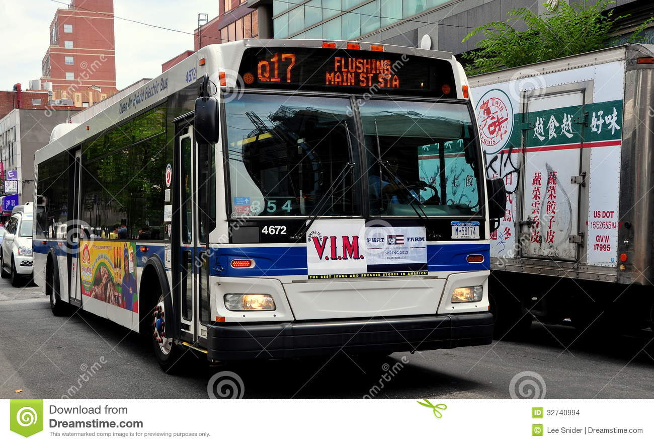 Flushing, NY: MTA Flushing MTA Bus Editorial Stock Image.