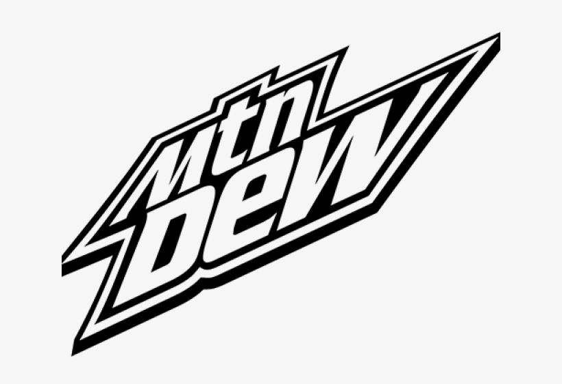 Mountain Dew Clipart Black And White.