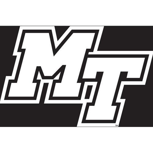 MTSU Decal White MT Logo 6.