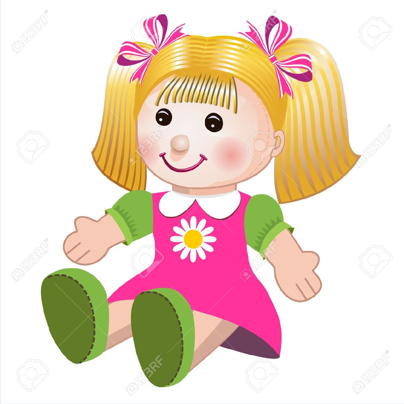 Toy Doll Clipart.