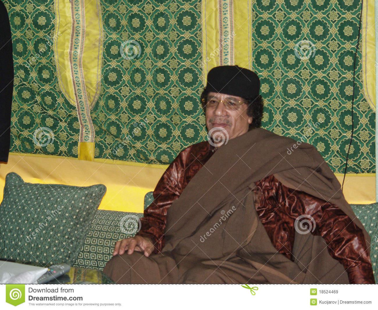 Muammar Al Gaddafi Editorial Stock Image.
