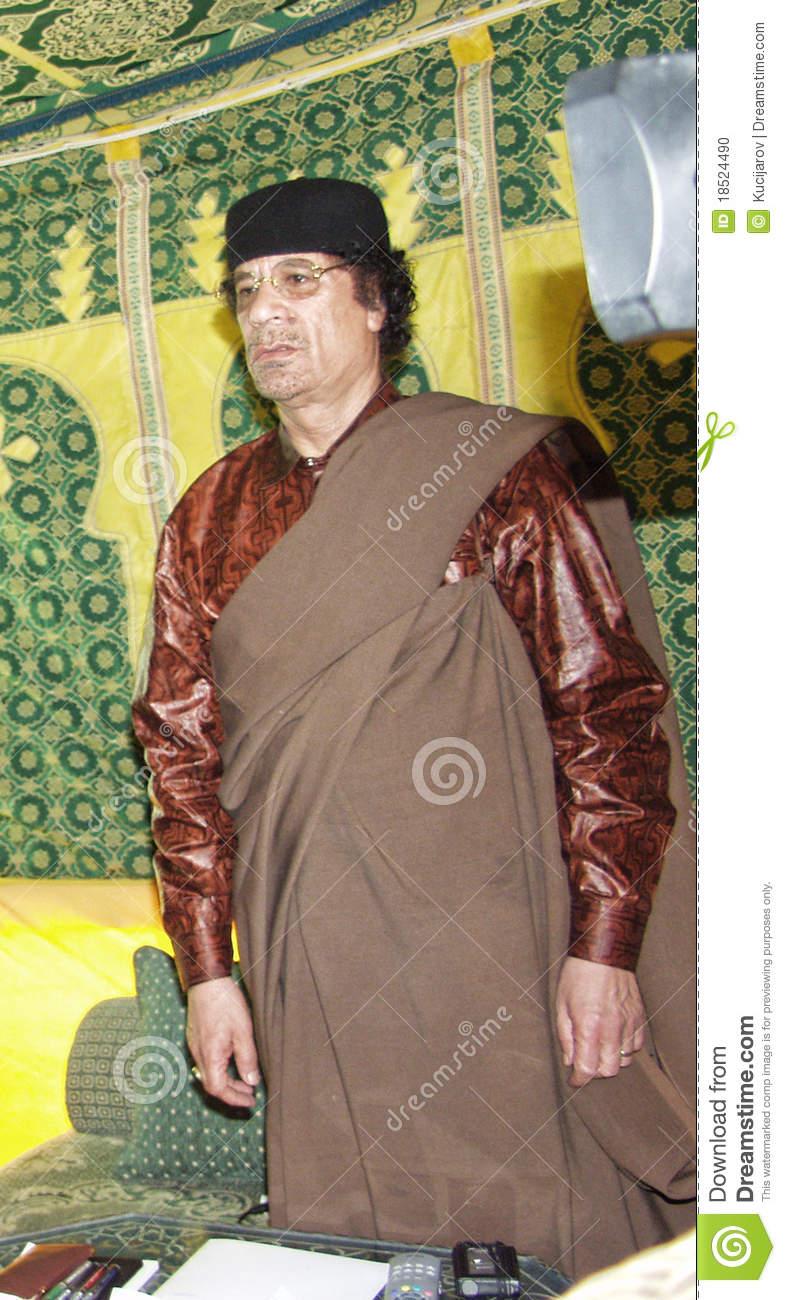 Muammar Al Gaddafi Editorial Image.