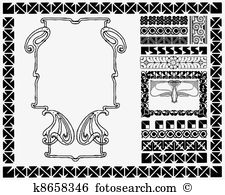 Mucha Clipart Vector Graphics. 11 mucha EPS clip art vector and.