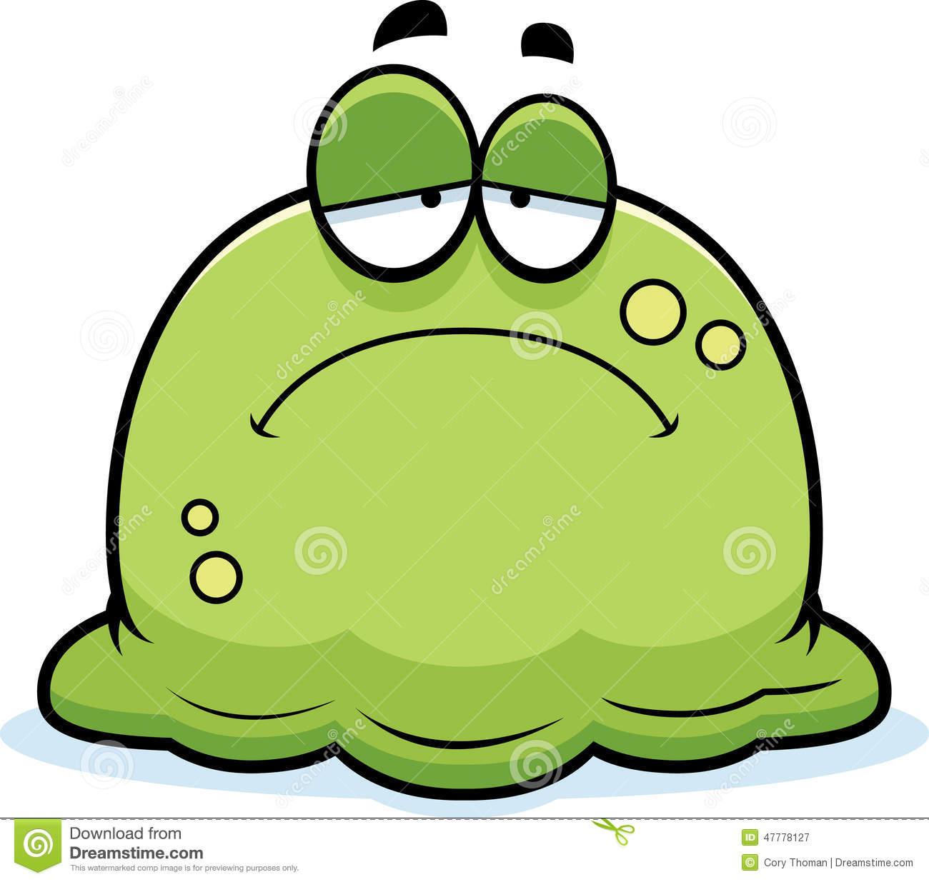 Green yellow mucus clipart.