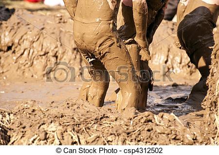 Stock Photo of Mud Bath.