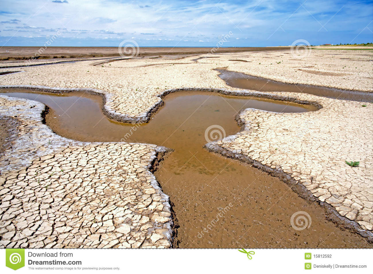 Tidal Estuary Mudflats, Norfolk, England Stock Photography.