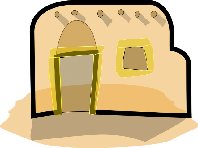 Adobe clipart mud hut, Adobe mud hut Transparent FREE for.