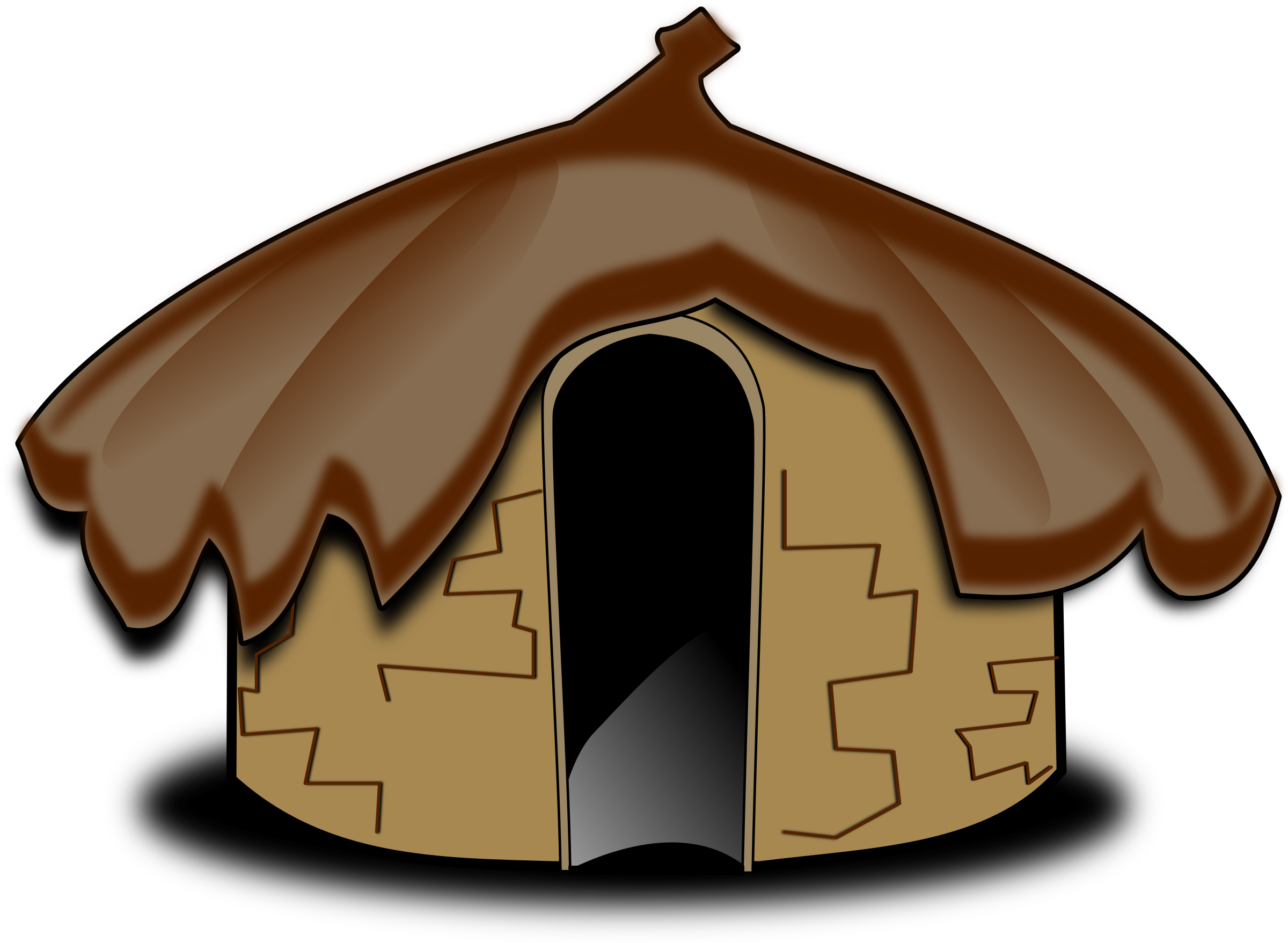 Mud house clipart.