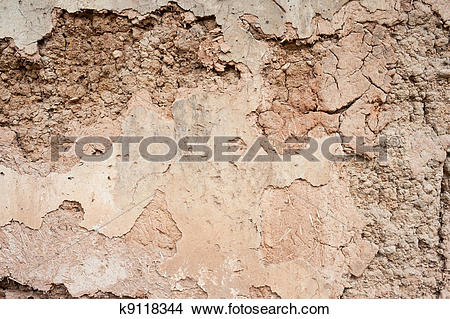 Stock Photo of Dilapidated mud wall k9118344.