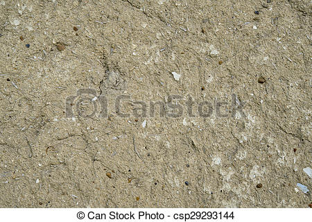 Stock Photo of surface of old mud walls.