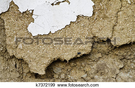 Stock Photograph of Mud wall background k7372199.