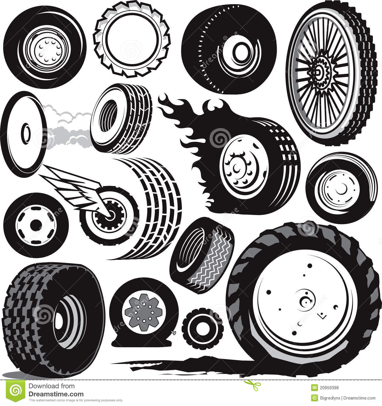 Mud tire clipart.