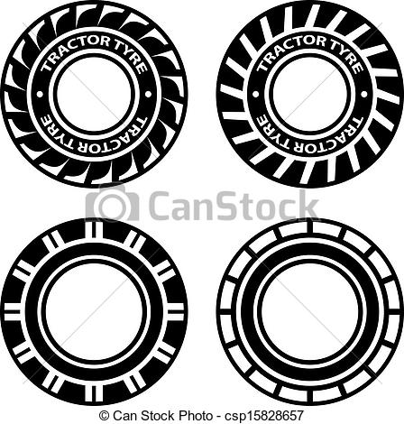 Large Mud Tire Clipart.