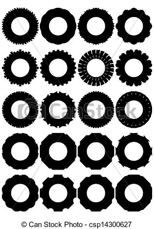 Vector Illustration of Tires for wheels..