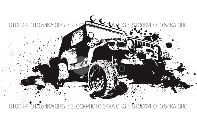 Off road mud tire clipart.