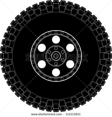 Mud Tire Clipart.