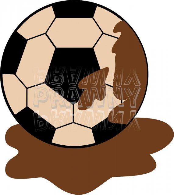 A Muddy Soccer Ball Sport Clip Art.