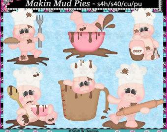 mud pie clipart.