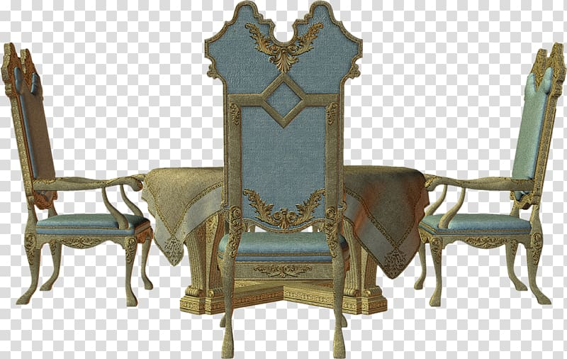 Table Chair Furniture, muebles transparent background PNG.