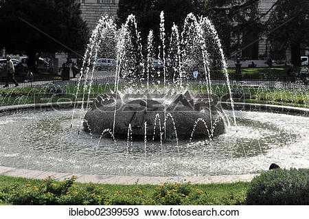 """Stock Photo of """"Muenchner Kindl fountain, a gift from Munich on."""