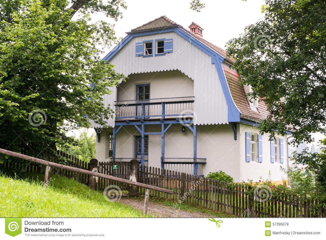 Muenter Haus Editorial Stock Photo.