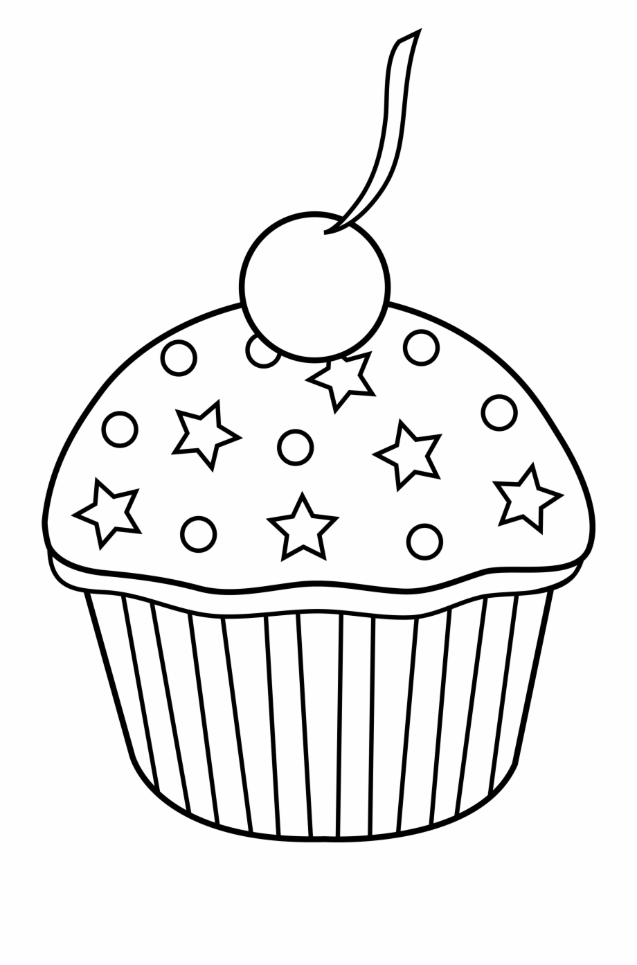 Muffin Clipart Colored Cupcake.