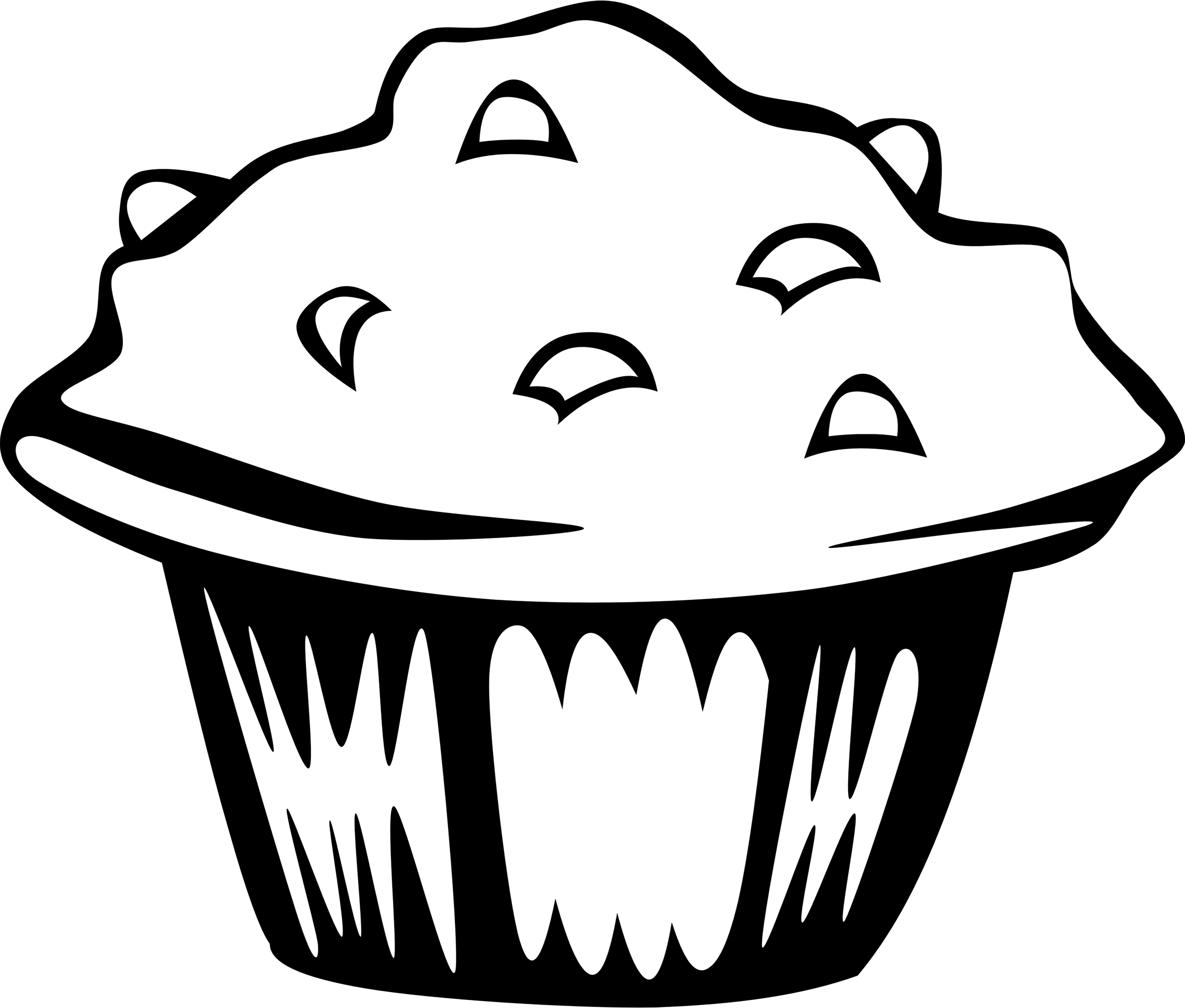 Muffin clip art black and white clipart images gallery for.