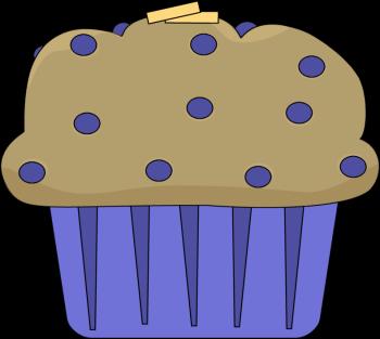 Buttered Muffin Clip Art.