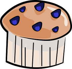 Blueberry muffin clipart.