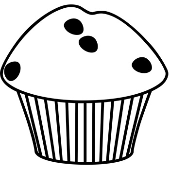Muffin Clipart Black And White (100+ images in Collection.
