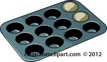 Muffin Pan Clip Art.
