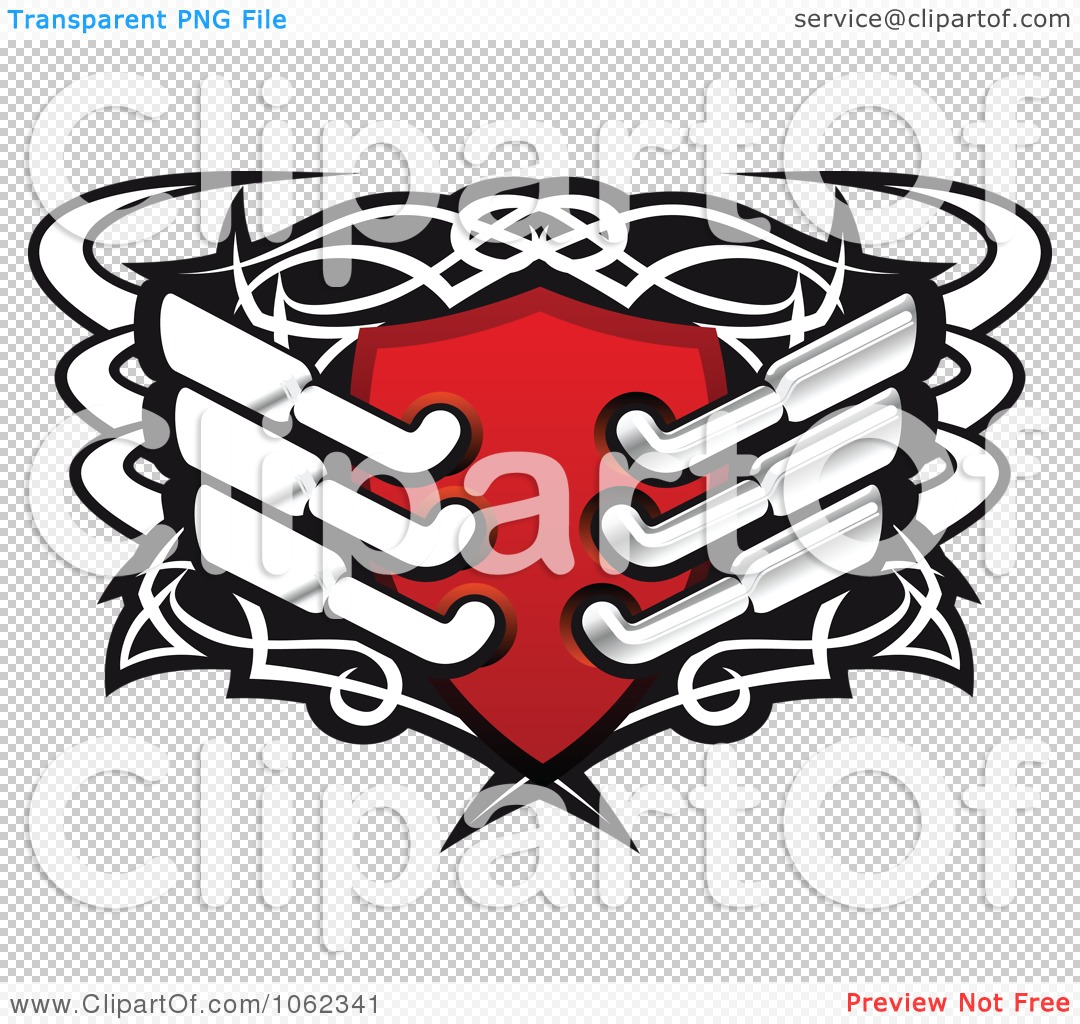 Clipart Racing Shield With Exhaust Mufflers.