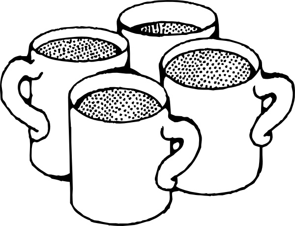 Coffee Mugs clip art Free vector in Open office drawing svg.