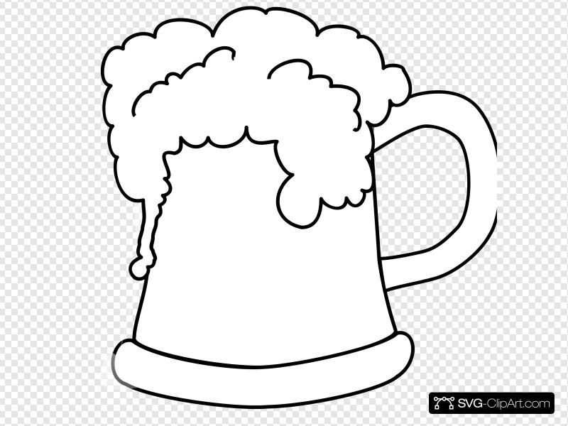 Beer Mug Outline Clip art, Icon and SVG.