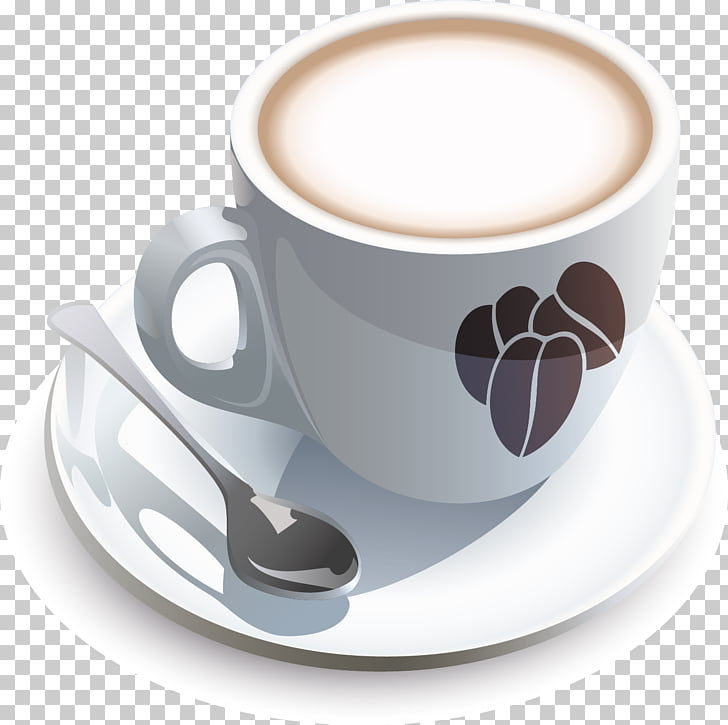 Coffee cup Breakfast Cafe, Mug template PNG clipart.